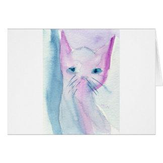 Schlaue Katze Karte