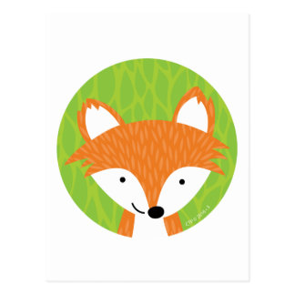 Schlaue kleine Freunde des Waldlandfox Postkarte