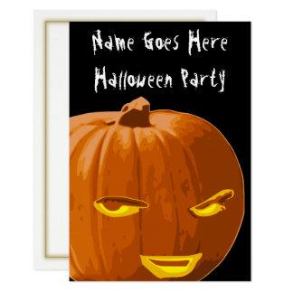 Schlaue Kürbis-Halloween-Party-Einladung Karte