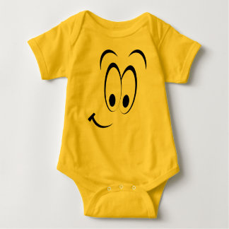 Sly Face Emoticon Baby Costume