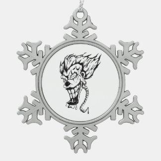 Schlechte Clownschneeflocke Schneeflocken Zinn-Ornament