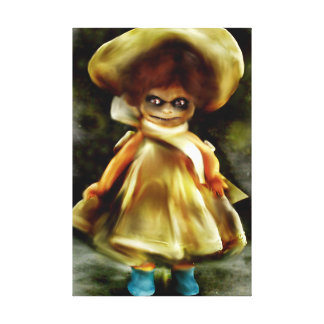 SCHLECHTE DORA PUPPE, beängstigende Kunst des Spuk Leinwanddruck