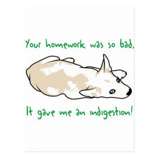 Schlechte Hausaufgaben Postkarte