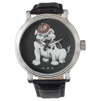 Schlechte Hundebulldoggen-Spaß-Armbanduhr Uhr