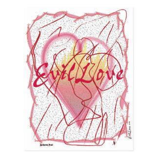 Schlechte Liebe Postkarte