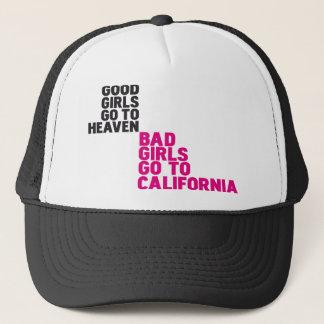 Schlechte Mädchen gehen zu Kalifornien Truckerkappe