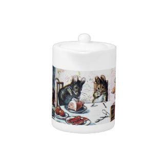Schlechte Mäuseteekanne Beatrix Potters zwei