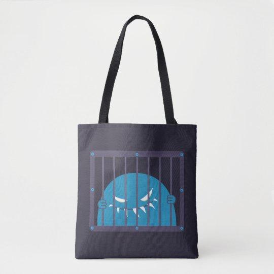 Schlechte Monster-Hauptperson gefangen gesetzt Tasche