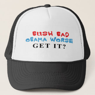 Schlechte Obama schlechtere Kappen Bushs