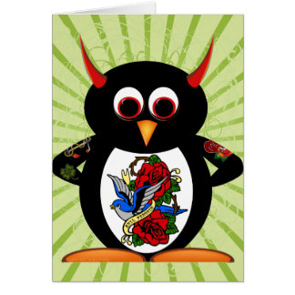 Schlechte Penguin™ Tätowierung Karte