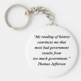 Schlechte Regierung - Thomas Jefferson Schlüsselanhänger