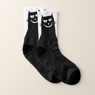 Schlechte schwarze Katzen-Socken Socken