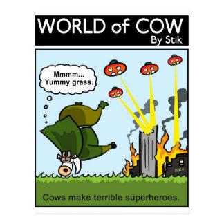 Schlechte Superhelden Postkarte
