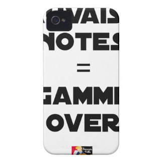 SCHLECHTE VERMERKE = over-GAMME - Wortspiele iPhone 4 Case-Mate Hülle