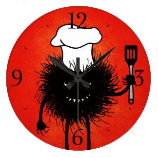 Schlechte Wanzen-Kochs-Lieben zu kochen Große Wanduhr