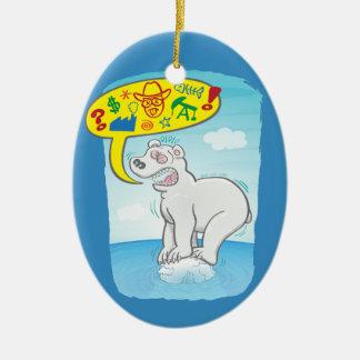Schlechte Wörter des Sprichworts des polaren Bären Keramik Ornament