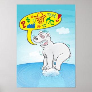 Schlechte Wörter des Sprichworts des polaren Bären Poster