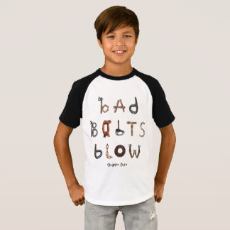 Schlechter Bolzen-Schlag - kurzer Raglan des T-Shirt