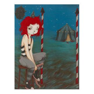 Schlechter Clown goth Horror Postkarte