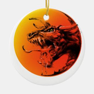 Schlechter Drache Keramik Ornament