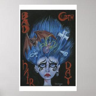 Schlechter Goth Haar-Tag Poster