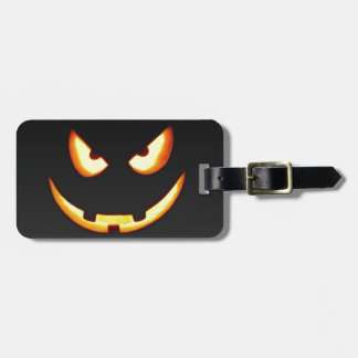 Schlechter Halloween-Kürbis Gepäckanhänger
