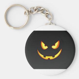 Schlechter Halloween-Kürbis Schlüsselanhänger