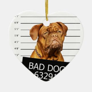 Schlechter Hund Keramik Ornament