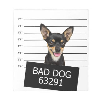 Schlechter Hund Notizblock