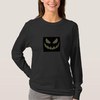 Schlechter Kürbis-Gesichts-Halloween-T - Shirt