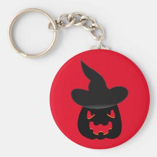 Schlechter Kürbis Halloween Keychain Schlüsselanhänger