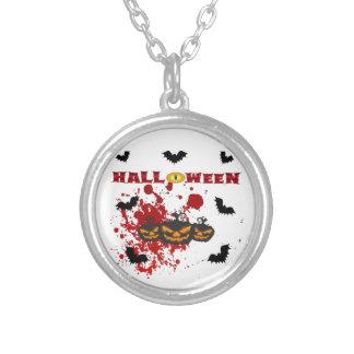 Schlechter Kürbis Halloween Versilberte Kette