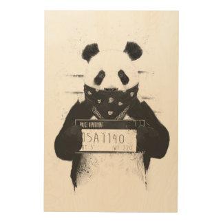 Schlechter Panda Holzleinwände