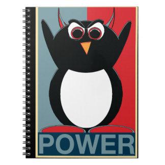 Schlechter Penguin™ Power zum schlechten Penguin! Spiral Notizblock