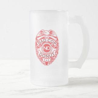 Schlechter Polizist kein Krapfen - Rot Mattglas Bierglas