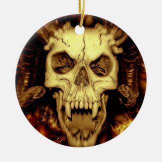 Schlechter Schädel Keramik Ornament