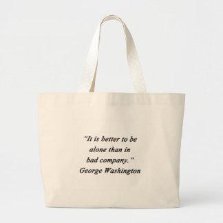 Schlechter Umgang - George Washington Jumbo Stoffbeutel