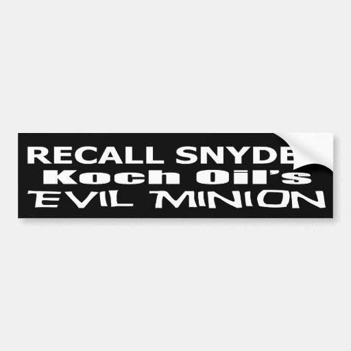 Schlechter Unternehmensgünstling Rückruf-Gouverneu Auto Sticker