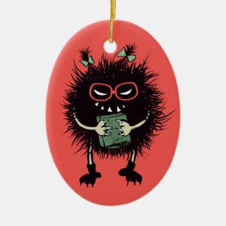 Schlechter Wanzen-Buch-Liebhaber-Aussenseiter Ovales Keramik Ornament
