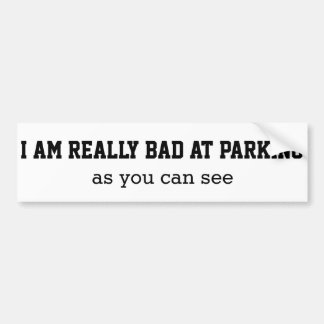 Schlechtes am Parken Autoaufkleber
