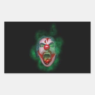 Schlechtes Joker-Clown-Gesicht Rechteckiger Aufkleber