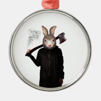 Schlechtes Kaninchen Silbernes Ornament