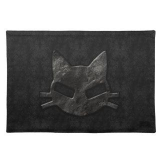 Schlechtes Kitty-Schwarz-gotisches Tischset