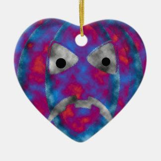 Schlechtes Kürbis-Gesicht Keramik Ornament
