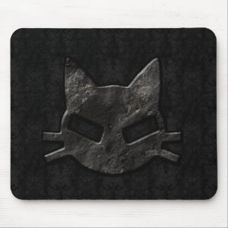 Schlechtes Miezekatze-Schwarzes gotisches Mousepad
