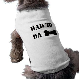 """Schlechtes zu DA-Knochen"" lustiger Hunde Humor Ärmelfreies Hunde-Shirt"