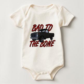 Schlechtes zum Knochen Baby Strampler
