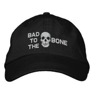 Schlechtes zum Knochen-Schädel gestickten Hut Bestickte Kappen