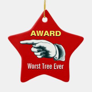 Schlechtester Baum-überhaupt Preis Keramik Ornament