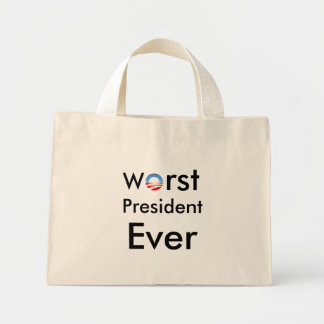 Schlechtester Präsident Ever - Antiobama-Tasche
